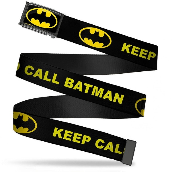 Batman Fcg Black Yellow Chrome Keep Calm And Call Batman W Logo Black Web Belt