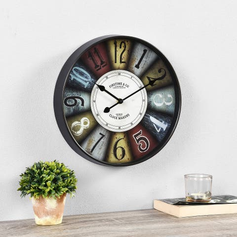 FirsTime & Co. ® Colorworks Wall Clock, Plastic, 2 x 12 x 12 in, American Designed - 2 x 12 x 12 in