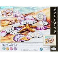 "Paint Works Paint By Number Kit 11""X14""-Shells"