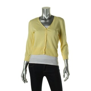 Polo Ralph Lauren Womens Ribbed Trim V-Neck Cardigan Sweater - M