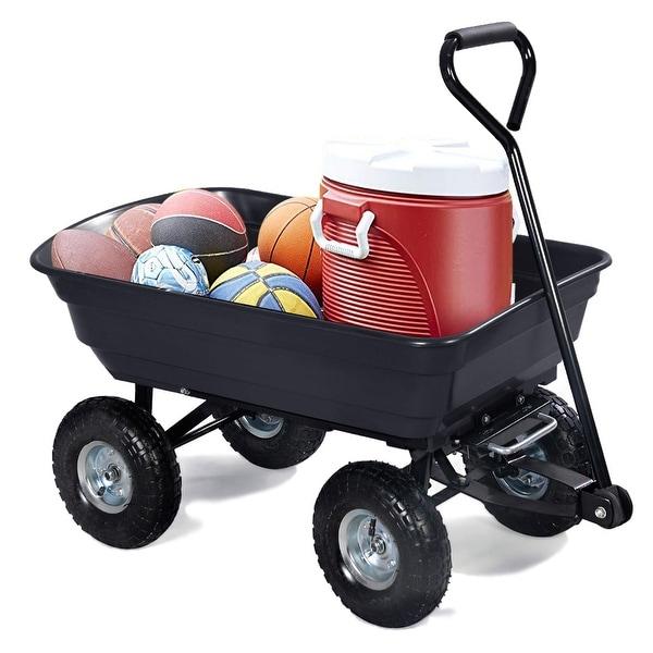 Shop Costway 660lb Garden Dump Cart Dumper Wagon Carrier