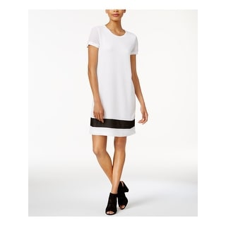 Link to BAR III White Short Sleeve Above The Knee Dress  Size L Similar Items in Dresses