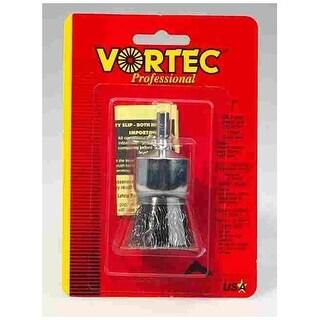 "Weiler 36048 Vortec-Pro Crimped Solid End Wire Brush, 1"""