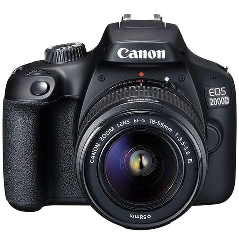 Canon EOS 2000D / Rebel T7 24.1MP DSLR Camera with EF-S 18-55mm Lens