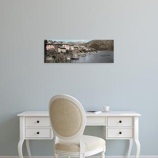Easy Art Prints Alan Blaustein's 'Italian Lake Pano #1' Premium Canvas Art