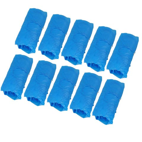 50 Pairs Blue Plastic Stretch Disaposable One-off Shoes Cover