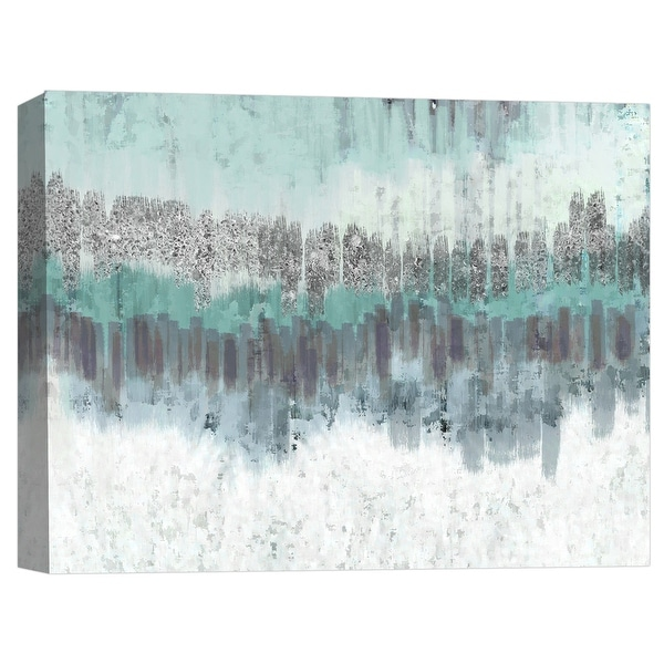 "PTM Images 9-124801 PTM Canvas Collection 8"" x 10"" - ""Silver Layer I"" Giclee Abstract Art Print on Canvas"