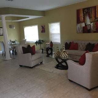 Furniture of America Evalline 3-Piece Dark Walnut Accent Table Set
