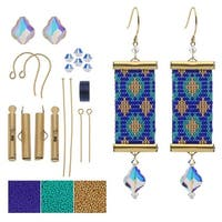 Refill - Loom Statement Earrings in Ibiza - Exclusive Beadaholique Jewelry Kit