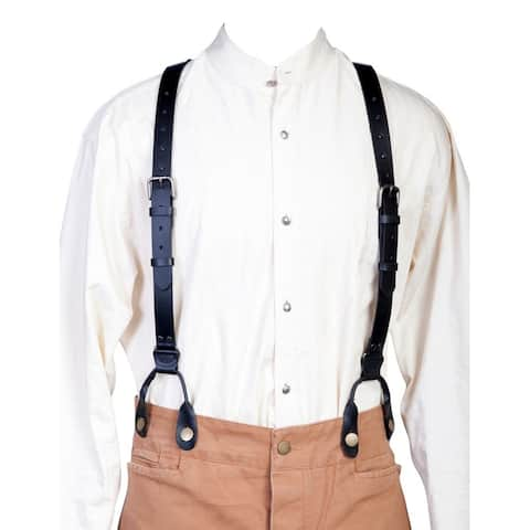 Scully Western Suspenders Mens Leather Y Back Attachment Loops - One Size