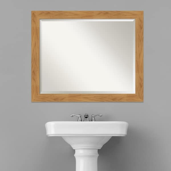 Solid Wood Mirror Small Mirror Bathroom Mirrors For Wall 24 00 X 20 00 In Carlisle Blonde Mirror Frame Framed Vanity Mirror Home Kitchen Bathroom Mirrors Fcteutonia05 De