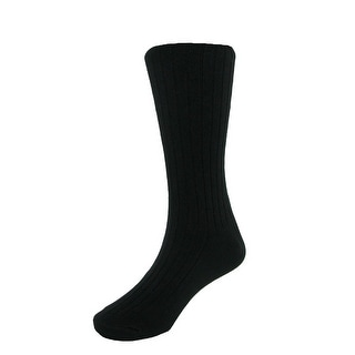 Jefferies Socks Girls Cotton Blend Ribbed Tights - Black