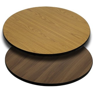 Offex 36'' Round Table Top with Natural or Walnut Reversible Laminate Top [OF-XU-RD-36-WNT-GG]