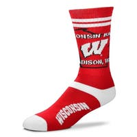 Wisconsin Badgers State Outline Socks
