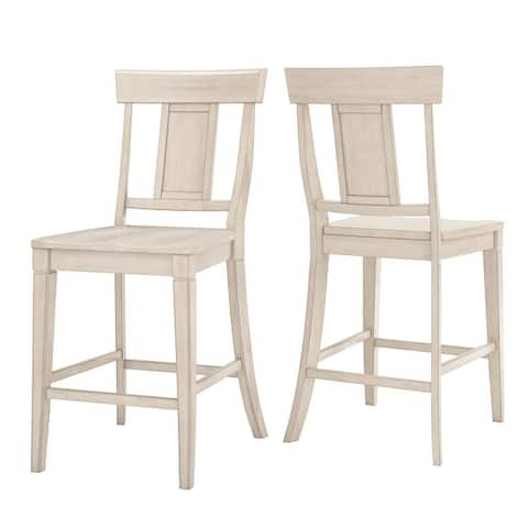 Eleanor Panel Back Wood Counter Chair (Set of 2) by iNSPIRE Q Classic