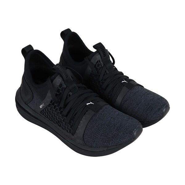 pretty nice 4655f 0240d Puma Ignite Limitless Sr Netfit Mens Black Textile Athletic Training Shoes