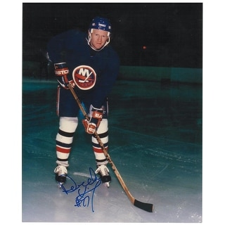 Derek King New York Islanders Autographed 8x10 Photo. This Item comes with a COA from Autograph-Sports.