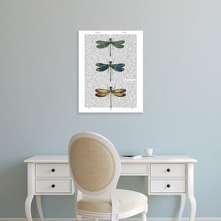 Easy Art Prints Fab Funky's 'Dragonflies Print 1' Premium Canvas Art