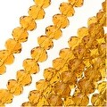 Topaz Color Glass Faceted Rondelle Beads 3x4mm (12.5 Inch Strand) - Thumbnail 0