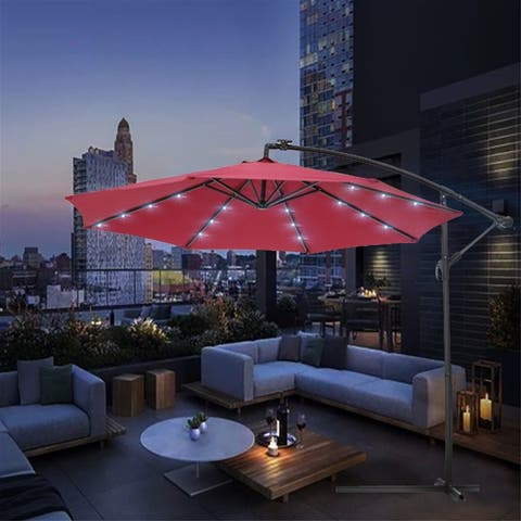 [Pre Sale]10 FT Solar LED Patio Outdoor Umbrella with 24 LED Lights