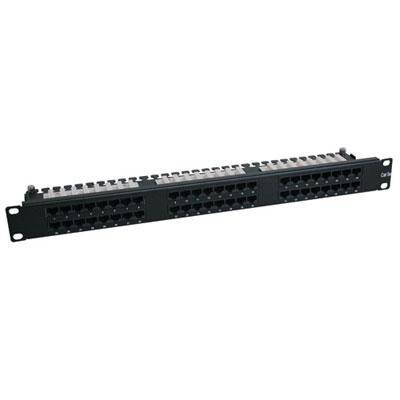 Tripp Lite 48-Port 1U Rackmount Cat6 110 High Density Patch Panel 568B, Rj45 Ethernet(N252-048-1U)
