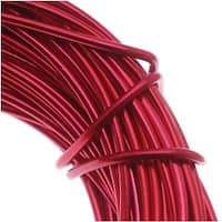 Aluminum Craft Wire Red 18 Gauge 39 Feet (11.8 Meters)