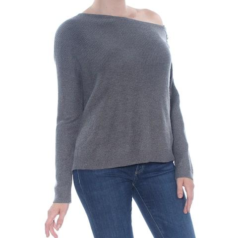 BAR III Gray Long Sleeve Sweater 2XS