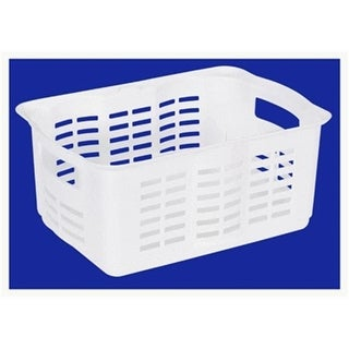 Rubbermaid FG522706WHT White Basket Stackable - Large Pack Of 6