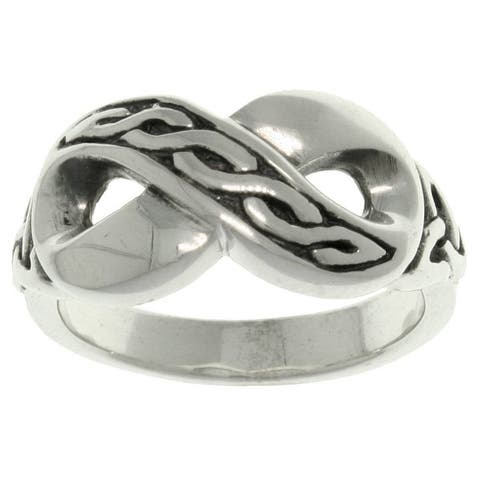 Sterling Silver Celtic Infinity Ring
