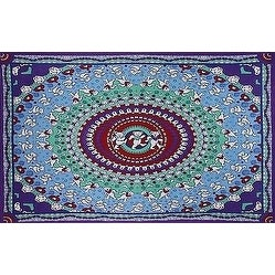 Cotton Grateful Dead Tapestry Wall Hanging Classic Dancing Bear 60x90 & 30x45 inches