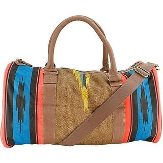 Tigerbear Republik Zeus Women Canvas Brown Duffel Bag