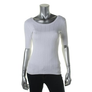 Guess Womens Pullover Sweater Ribbed V-Back