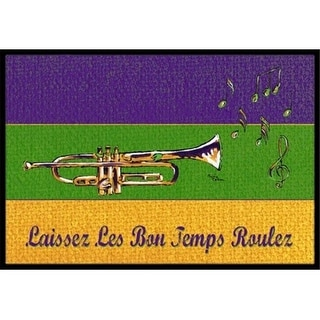 Carolines Treasures 8382JMAT 36 x 24 in. Mardi Gras Indoor Or Outdoor Doormat