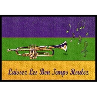 Carolines Treasures 8382MAT Mardi Gras Indoor Or Outdoor Doormat - 18 x 27 in.