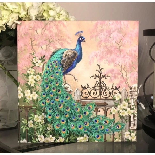 "10"" x 10"" Green and Blue Jewel of The Garden Embellished Pizazz Wall Art - N/A"