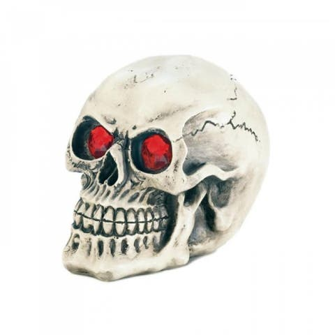 Light-Up Skull With Red Eyes