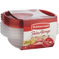 Rubbermaid Home 4Pc Sandwich Containers 1832533 Unit: EACH