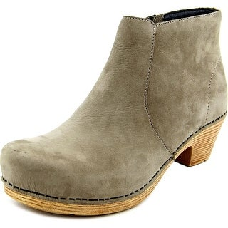 Dansko Maria Milled Women Round Toe Leather Gray Ankle Boot
