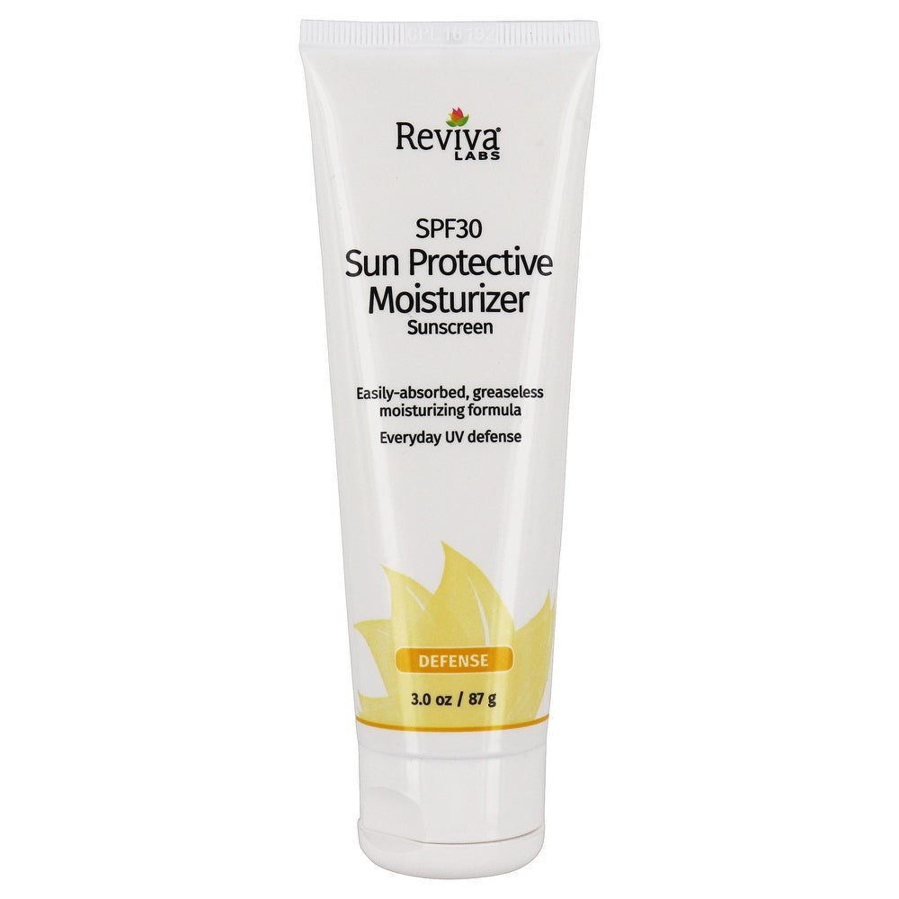 Reviva Labs - Sun Protective Defense Moisturizer 30 SPF - 3 oz. (Facial Sunscreen - White)