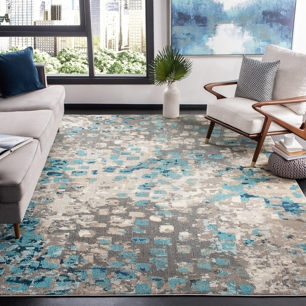 SAFAVIEH Madison Gudlin Modern Abstract Watercolor Rug. Opens flyout.