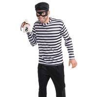 Forum Novelties Burglar Adult Costume - Black/White - Standard