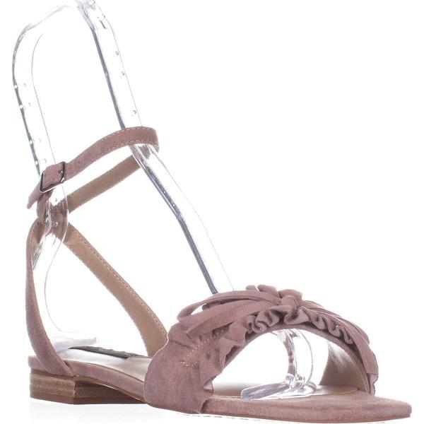 STEVEN Steve Madden Cassiel Flat Sandals, Blush Suede - 8.5 us