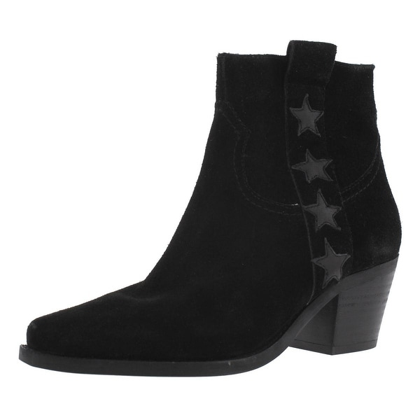 Steve Madden Womens Starri Cowboy, Western Boots Suede Ankle - 7.5 medium (b,m)