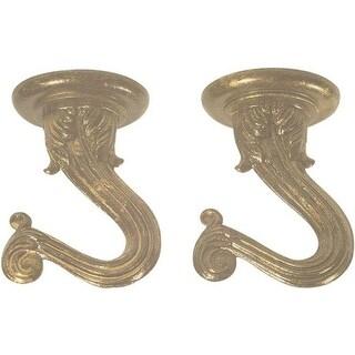 "Westinghouse 7045100 Swag Hooks Kit, Antique Brass, 1-1/2"", 2Pcs"