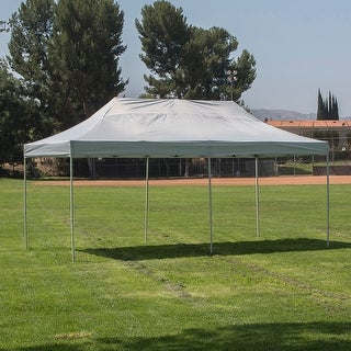 Belleze Pyramid Shelter Pop Up Canopy Tent 10' x 20' ft -Silver