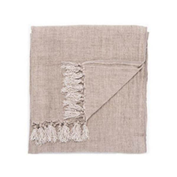 "Gray Linen Throw - MAU03 51""x67"""