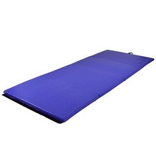 Costway Blue 4'x10'x2'' Gymnastics Mat Thick Folding Panel Fitness Exercise Mat