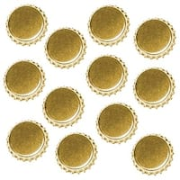 New Gold Crown Bottle Caps Craft Scrapbook Jewelry (50)