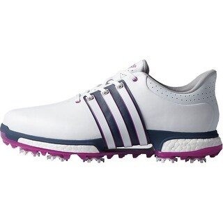 Adidas Men's Tour 360 Boost FTWR White/Flash Pink/Mineral Blue Golf Shoes F33481