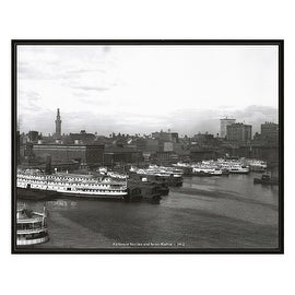 ''Baltimore Skyline and Inner Harbor, 1912'' by Anon Cityscapes Art Print (16 x 20 in.)